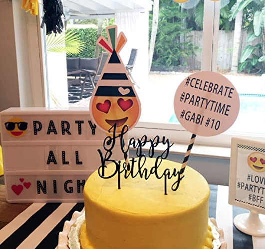 Amazon EMOJI Inspired CAKE TOPPER