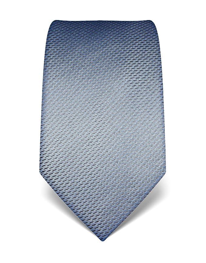 Vincenzo Boretti Corbata de hombre en seda pura, estampada azul ...