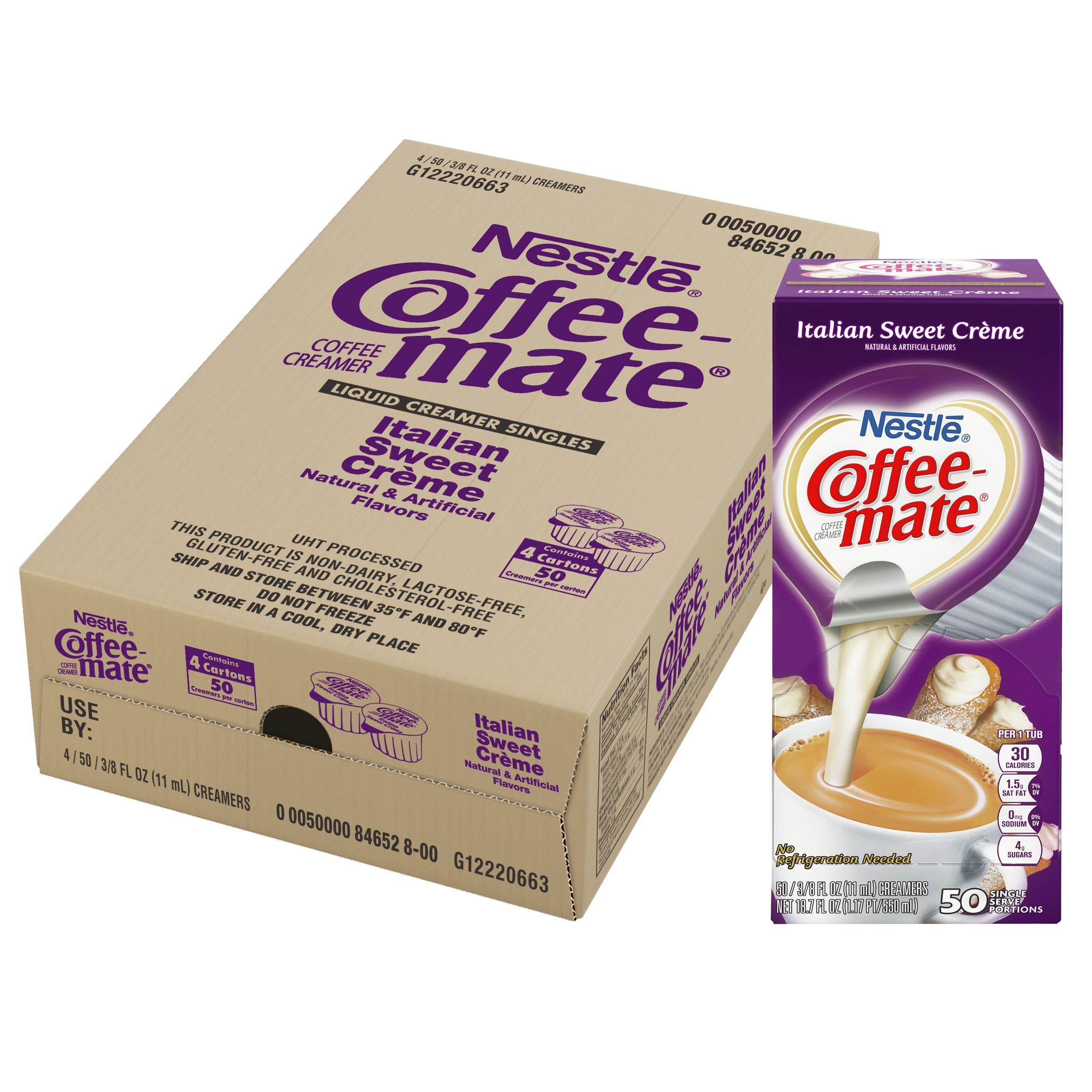 NESTLE COFFEE-MATE Coffee Creamer, Italian Sweet Creme, liquid creamer singles, Pack of 200 by Nestle Coffee Mate (Image #6)