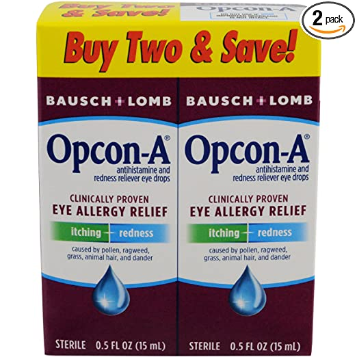 Opcon-A Eye Drops 15 ml, 2 Count