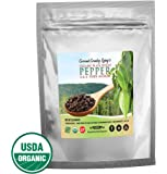 Organic Black Peppercorns Whole, Fair Trade Certified 1 lb Pepper Balls, Packed Fresh w/E-Book