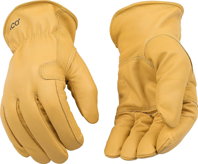 Kinco 192 Unlined Grain Goatskin Leather Driver Glove, Work, Medium, Palomino (Pack of 6 Pairs) by KINCO INTERNATIONAL B00AN7XDPO