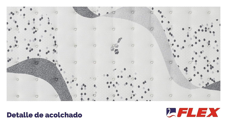 FLEX Colchón muelles ensacados biocerámico WBx 500 Visco Firmeza Superior, 150 x 200 cm: Amazon.es: Hogar