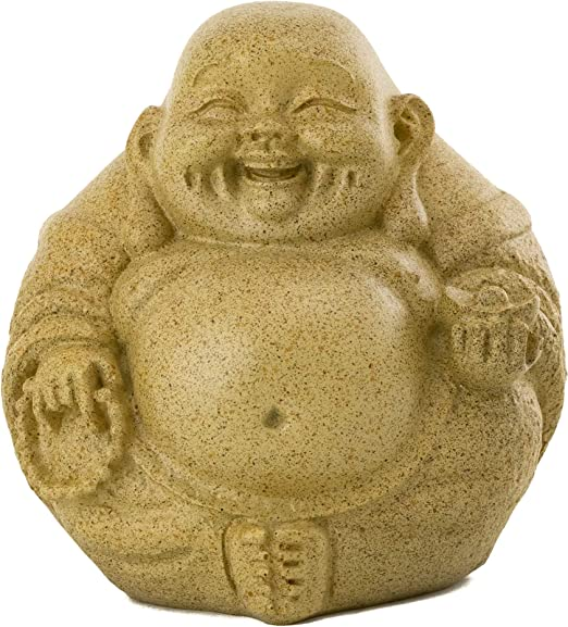 Top Collection Mini Happy Buddha Laughing Statue Hand Painted Essence Of Joy Big Belly Buddha In Sandstone Finish 3 25inch Collectible East Asian New Age Lucky Buddha Figurine Home