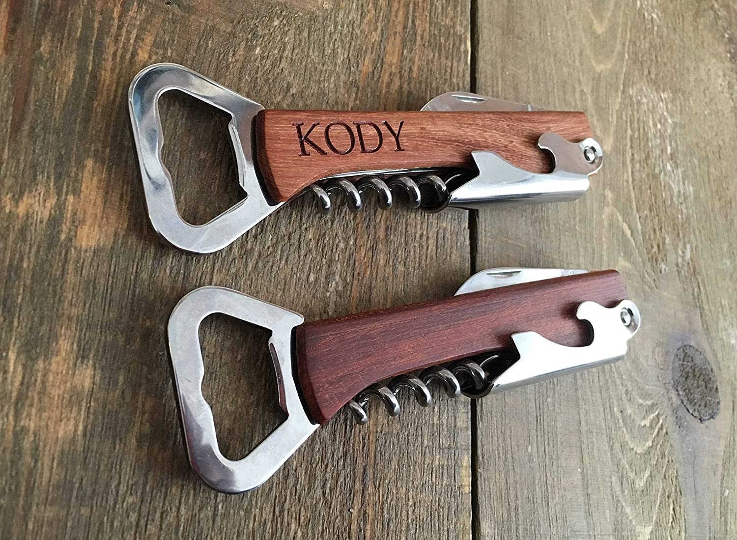 Engraved Wood Personalized Bottle Opener