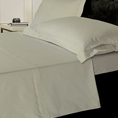 Linen Zone 800 Thread Egyptian Cotton 5 Star Hotel Quality Deep Fitted Bed  Sheet, Double
