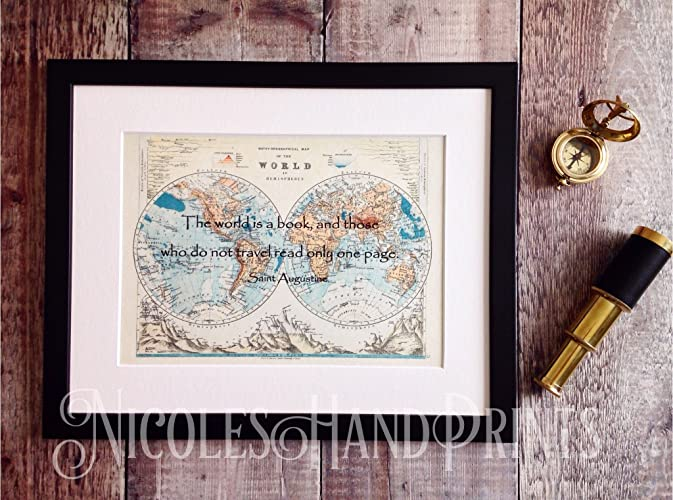 Unique travel gifts beautiful old world map print travel unique travel gifts beautiful old world map print travel inspired gifts the world gumiabroncs Images