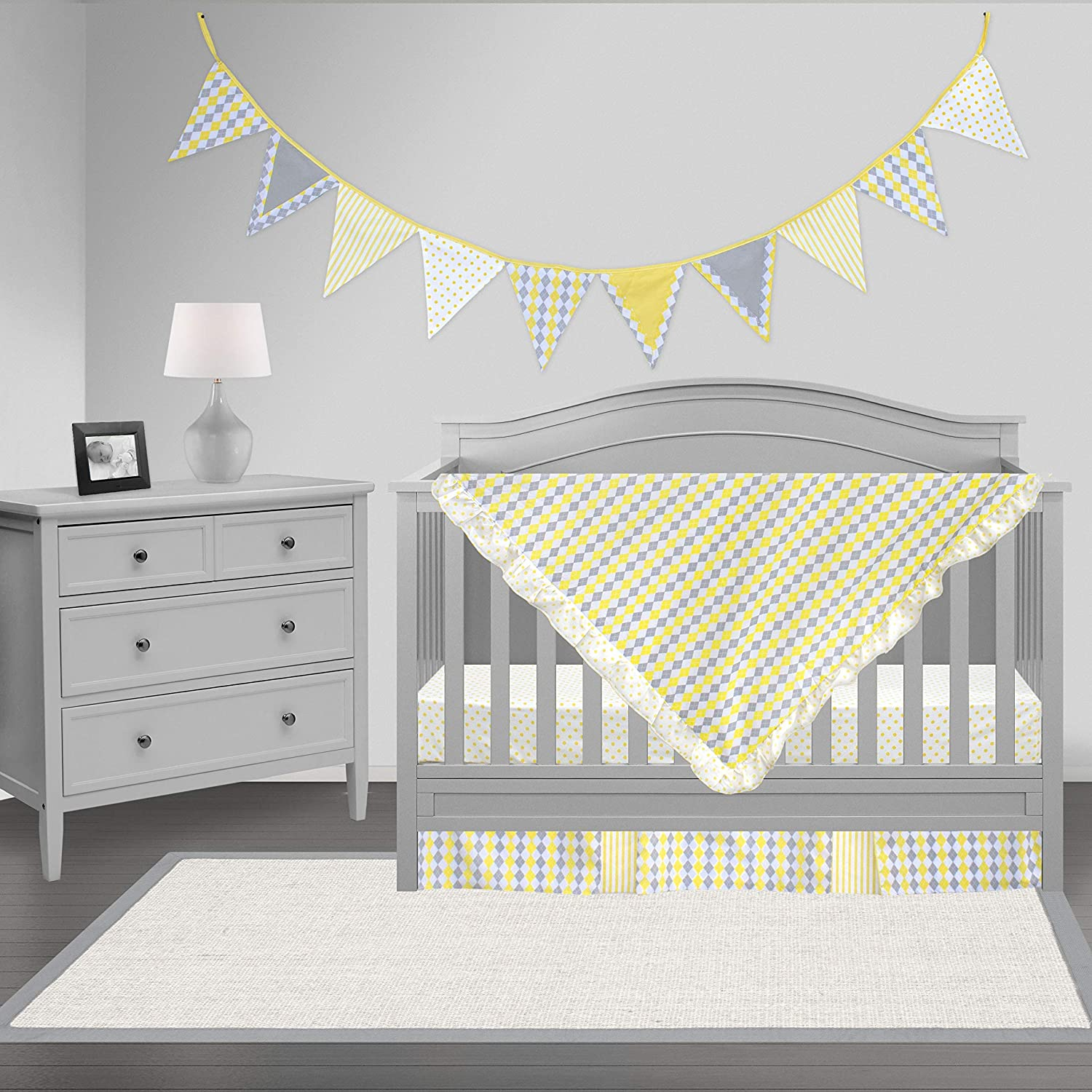 Pam Grace Creations Crib Bedding Set, Simply Argyle by Pam Grace Creations   B00C2JU1M4