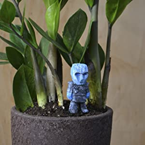 Night King Mini Wood Figure for Mini Fairy Garden The Game of Thrones Micro Wood Landscaping Décor Miniature House Decor Unique Handmade Figures for Crafts and Home Décor Planter Wood Figure