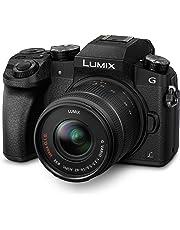 Panasonic LUMIX G DMC-G70KAEGK Systemkamera (16 Megapixel, OLED-Sucher, 7,5 cm OLED Touchscreen, 4K Foto und Video) mit Objektiv H-FS14042E schwarz