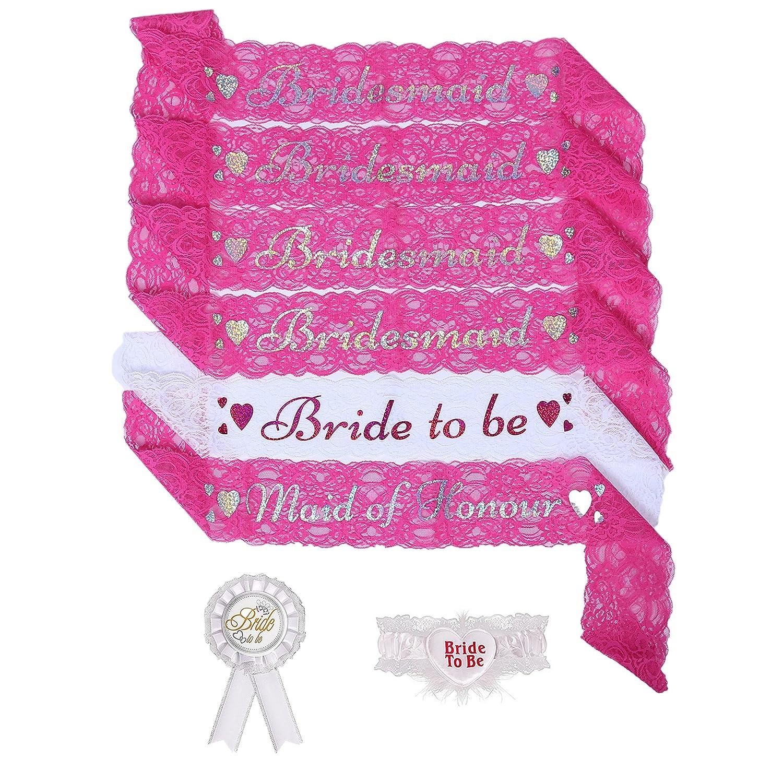 Amazon.com: Bridal Bachelorette Party Favors - Bride To Be Sash ...