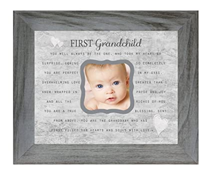 Amazon.com - First Grandchild Poem 8 x 10 Inch Distressed Gray ...