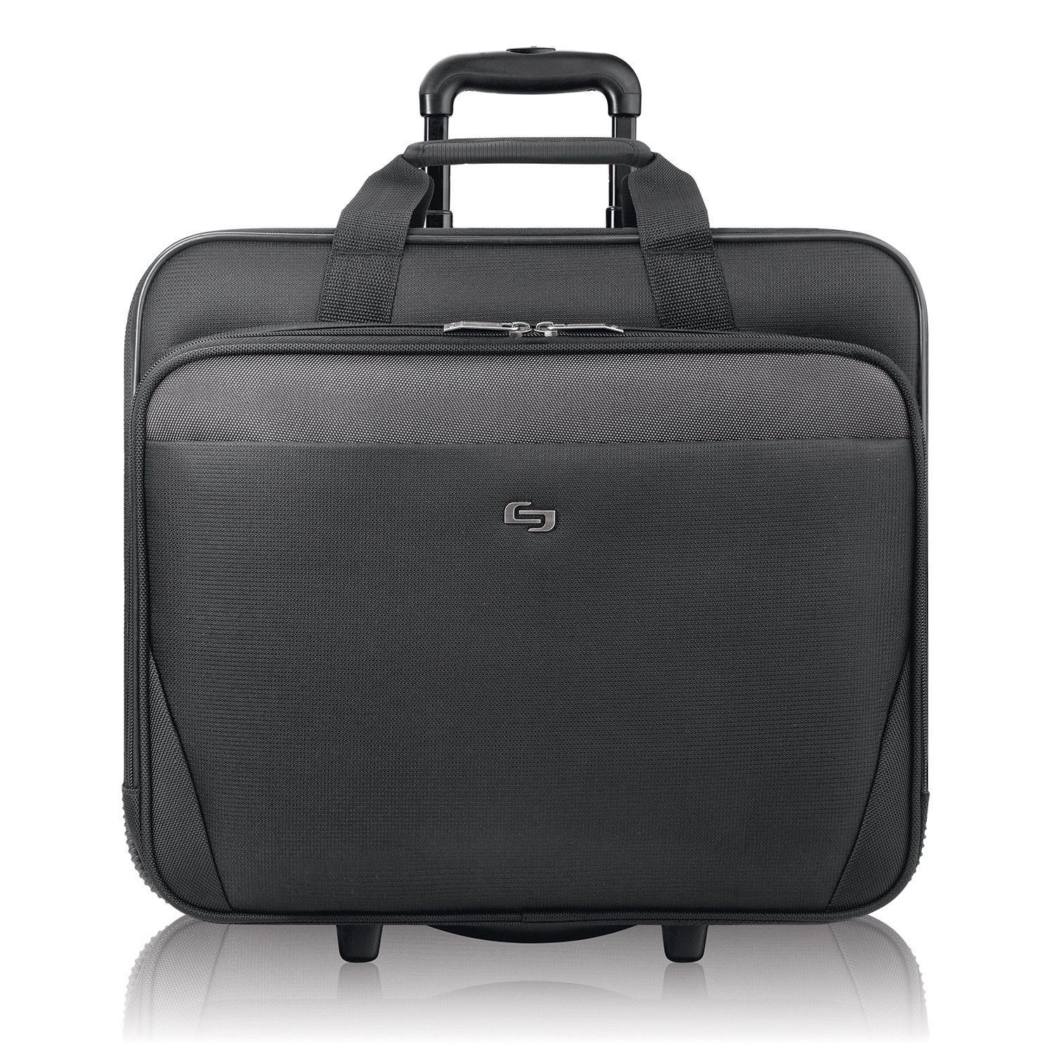 Solo New York Empire Rolling Laptop Bag.  Rolling Briefcase for Women and Men. Fits up to 17.3 inch laptop - Black by SOLO