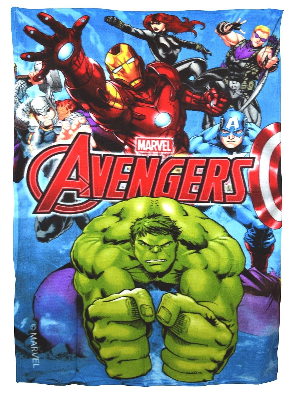 Marvel Avengers Comics Super Soft Fleece Blanket Kids Boys GIFT