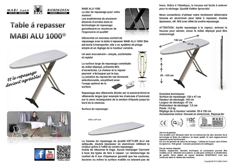 Housse de table repasser pour centrale vapeur table for Housse de repassage pour centrale vapeur