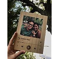 Cuadro personalizado reproductor Spotify Decoracion Madera con fotografia de alta definicion en papel fotografico…