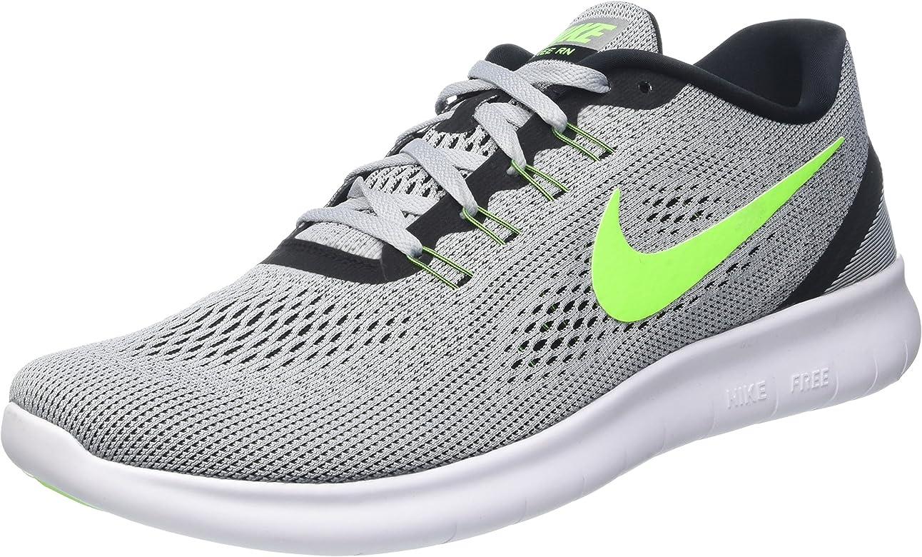 Nike Free RN, Zapatillas de Running para Hombre, Plateado (Pr Platinum/Elctrc Grn-Anthrct), 46 EU: Nike: Amazon.es: Zapatos y complementos