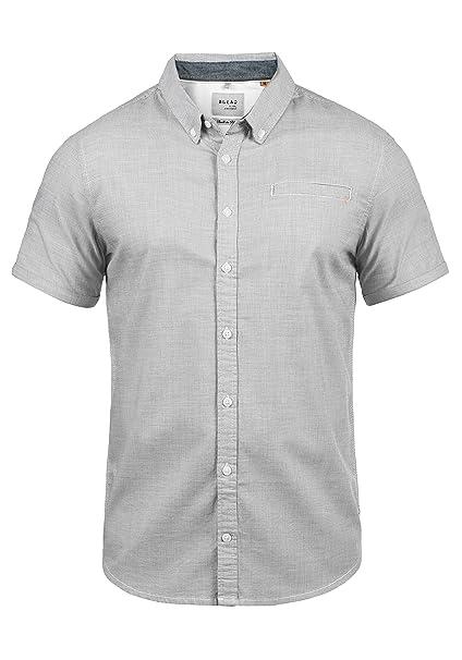 Blend Fill Camisa De Manga Larga con Botones En El Cuello De 100% Algodón xhapWZgK0