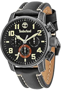 Timberland 14439JSQ-02 Mens Mascoma Black Leather Strap Watch