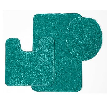 Brandy friso de sólido alfombra de baño (3 piezas, alfombra de ...
