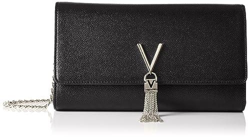 0c373b702 Valentino by Mario Valentino VBS1R401G Women's Divina Cross-Body Bag Black  (Nero)