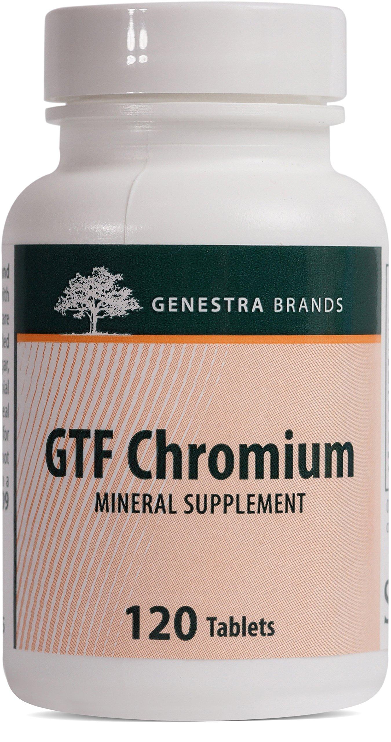 Genestra Brands - GTF Chromium - Support for Healthy Glucose Metabolism* - 120 Tablets