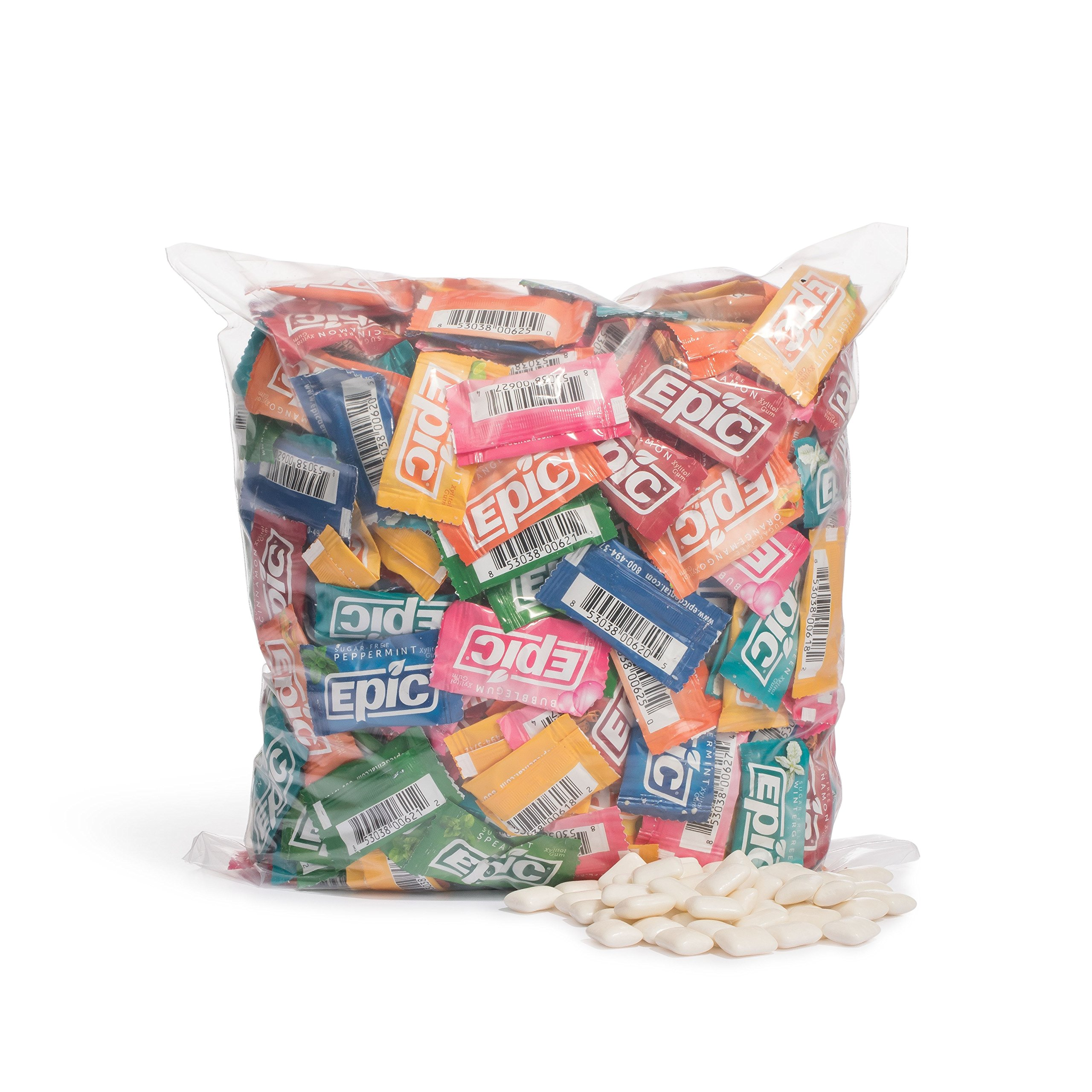 Epic Dental Assorted Xylitol Gum, 500 Packets by Epic