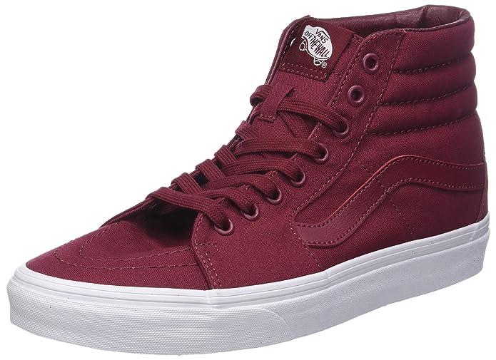 Vans Sk8-hi Schuhe Unisex-Erwachsene Textil dunkelrot