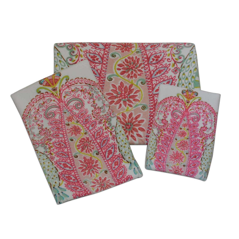 Dena Peacock Printed Fingertip Towel Bardwil Linens 047596163092