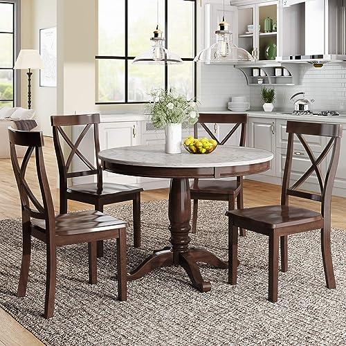 LUMISOL 5 Piece Round Kitchen Table Set