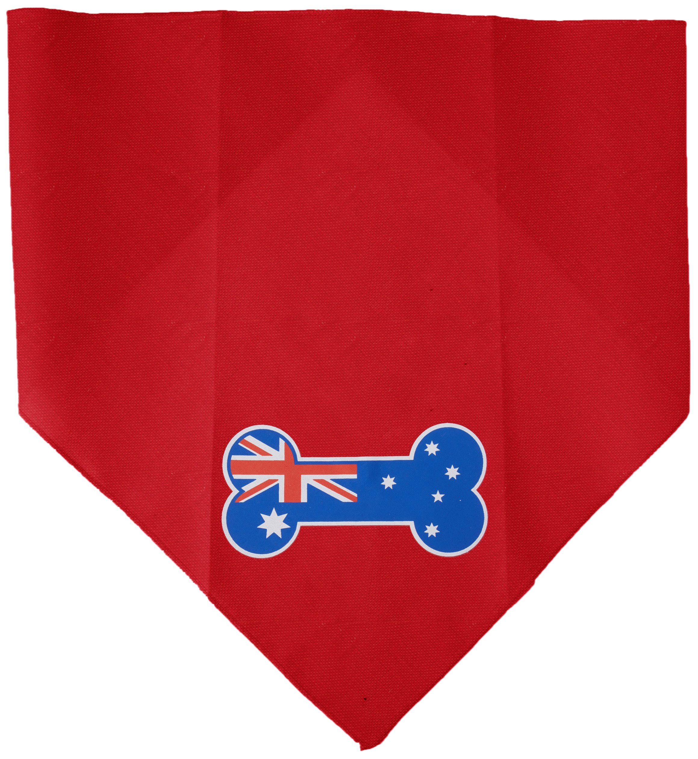 Mirage Pet Products Bone Flag Australian Screen Print Bandana for Pets, Large, Red by Mirage Pet Products (Image #1)