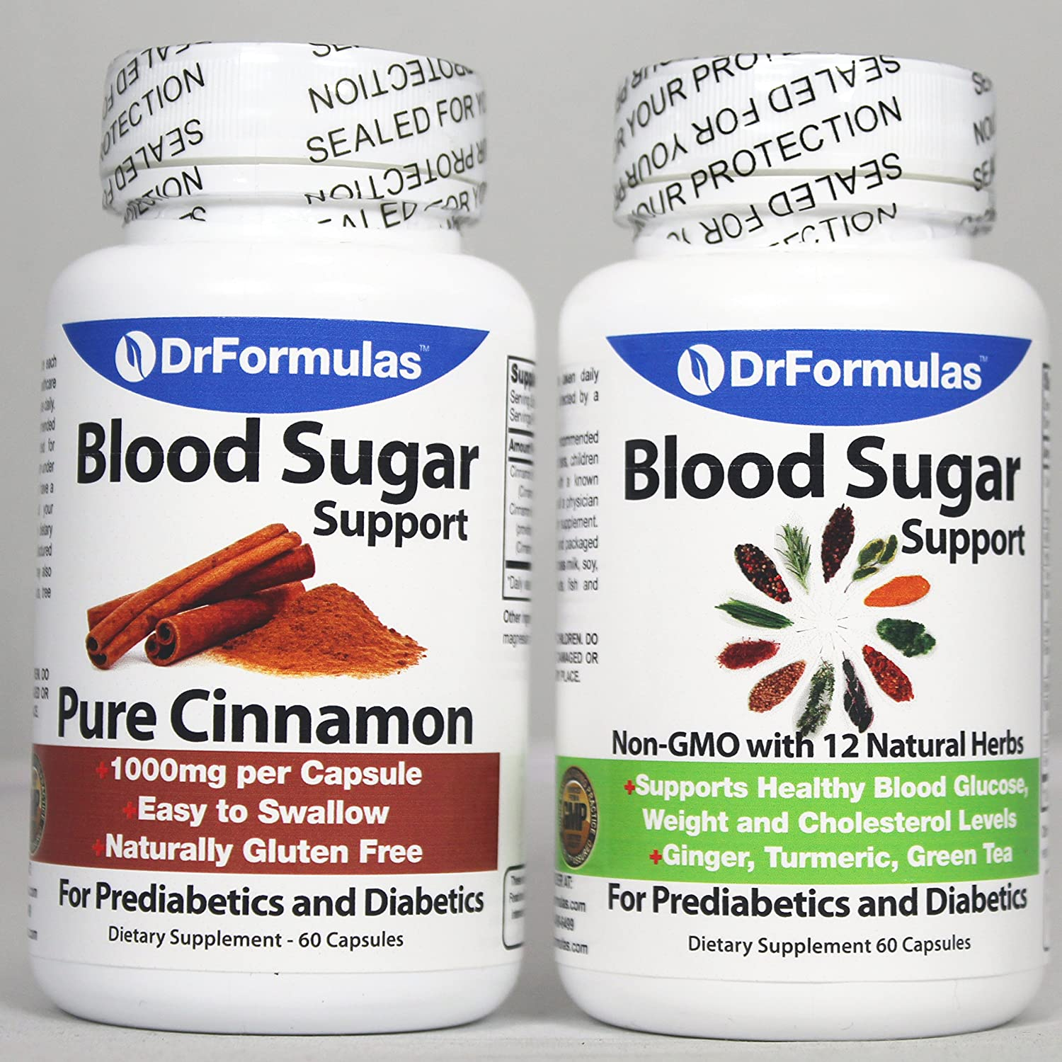 DrFormulas Blood Sugar Support Diabetes Health Pack Supplements for Kids Adults Glucose, Insulin Cholesterol Control with Cinnamon Cinsulin, Turmeric, Vitamins Vital Nutrients