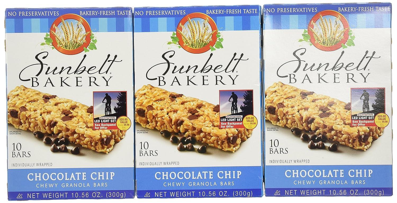 sunbelt bakery chocolate chip chewy granola bars 30 total bars
