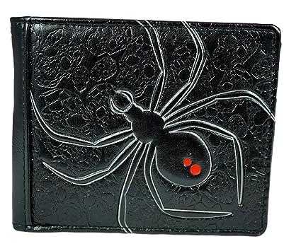 Shagwear - Monederos para mujeres jóvenes: Varios colores y diseños: (Araña viuda negro / Black widow)
