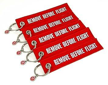 Llavero eliminar antes de vuelo Set de 5