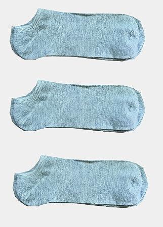3 pares calcetines para mujer lisa gris Fantasmino Pariscarpa – Calcetines deportivos TG. Única 35