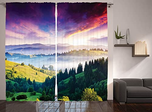 Ambesonne Europe Nature Curtain