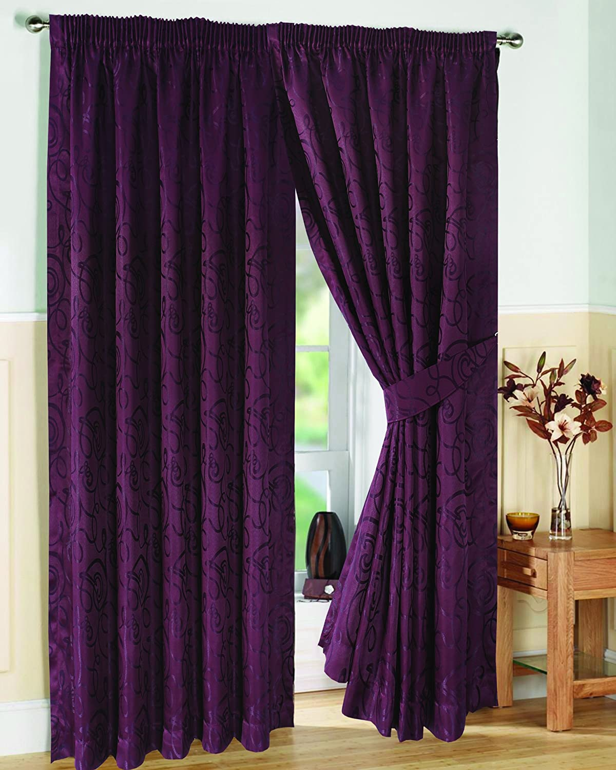 thermal curtain willow jacquard of window ip blackout in curtains set insulated walmart com panels pair