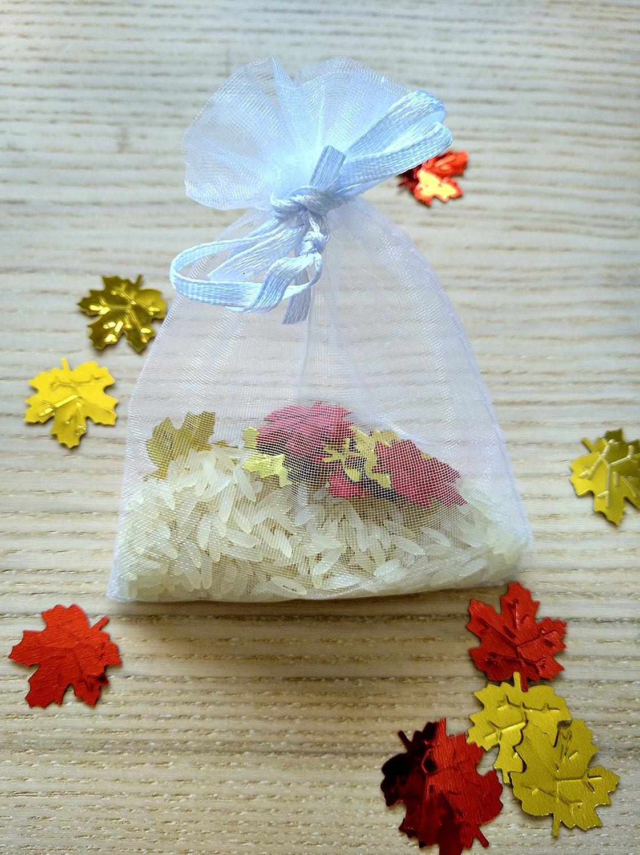 Bolsas de organza de arroz y confeti modelo Canadá para ...