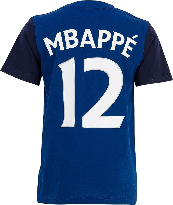 Camiseta FFF – Kylian mbappe – oficial selección francesa de fútbol – talla infantil, Niño, azul, 6 años: Amazon.es: Deportes y aire libre