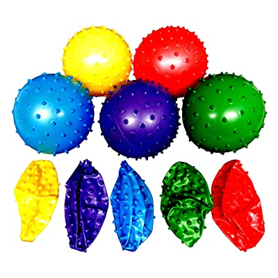 Rhode Island Novelty 50 Knobby Balls 5 Colors 4½ Inch Childrens Party Favor Toy 10 of Each Color: Toys & Games
