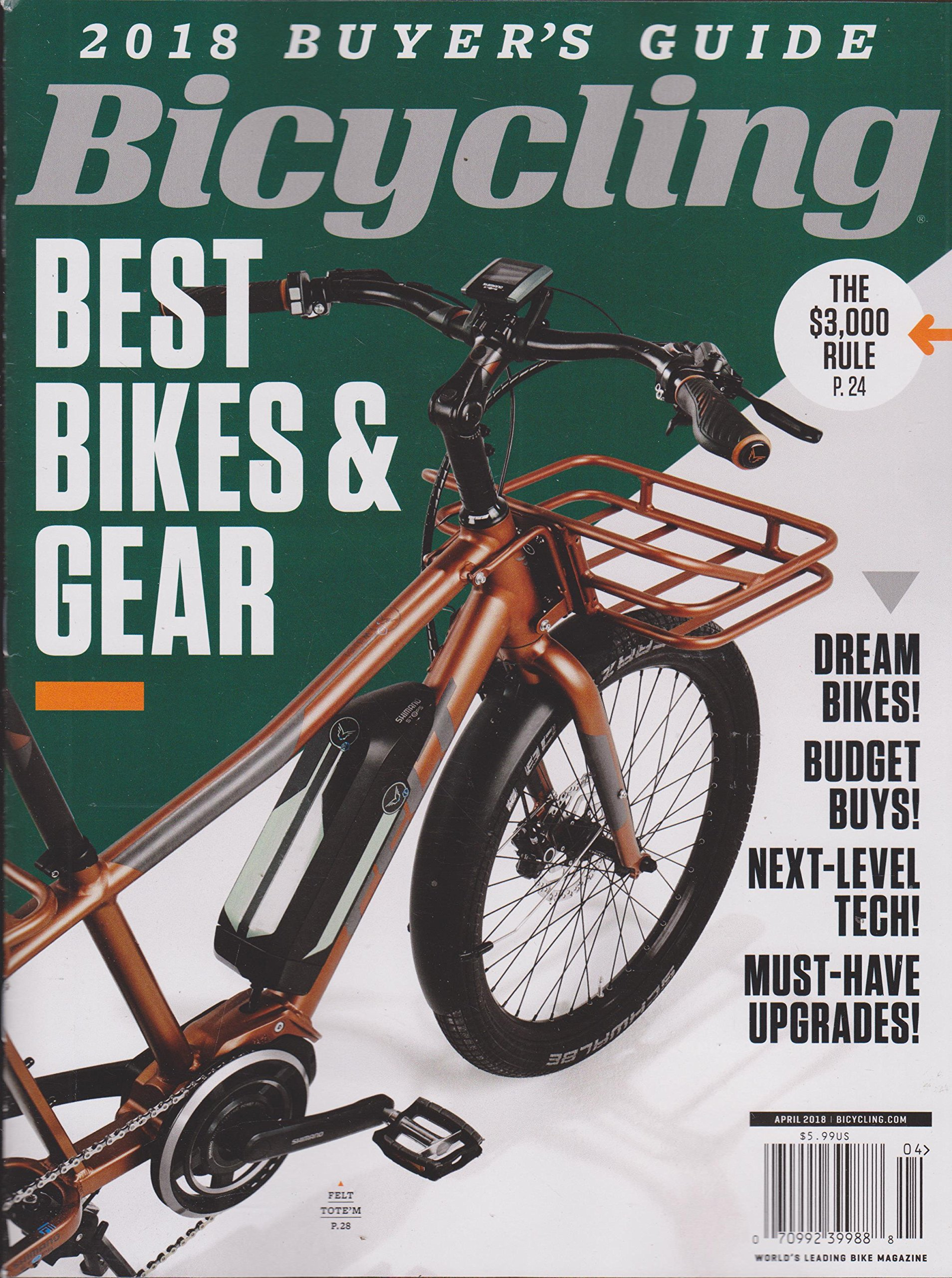 Download Bicycling 2018 Buyer's Guide Best Bikes & Gear April 2018 Copper Color Bike Cover ebook
