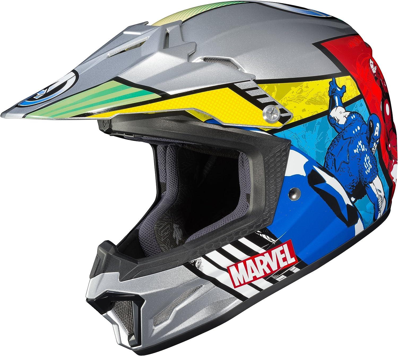 MC-21 HJC CL-XY II Marvel Avengers Youth Helmet Blue//Red Gray, Large
