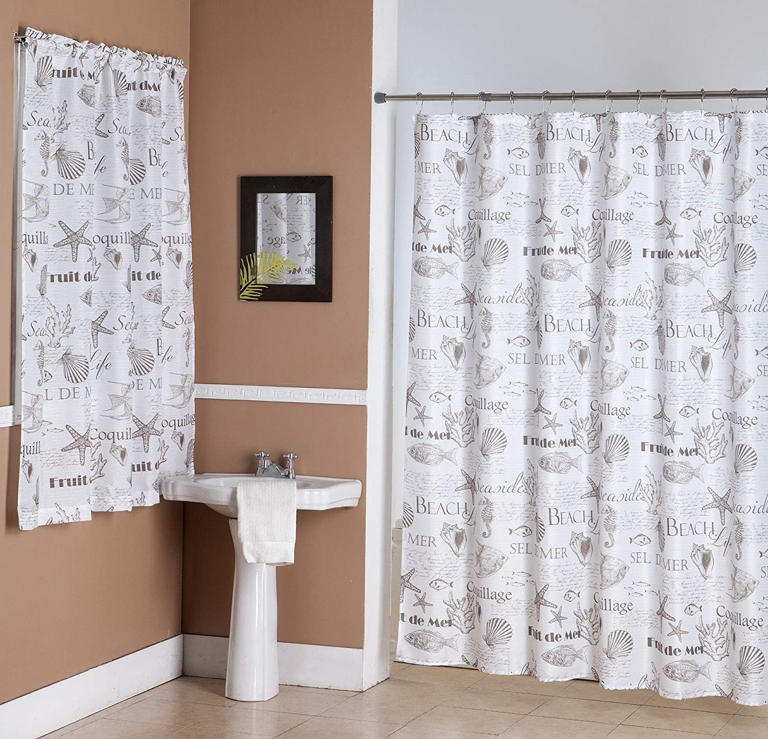 Trend Bathroom Window And Shower Curtain Sets