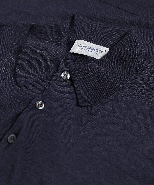 John Smedley Hombres Merino Lana Dorset Polo Polo XL Hepburn Smoke ...