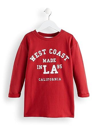 RED WAGON Camiseta Estampada West Coast Niñas, Rojo (Jester Red 19-1662 Tcx