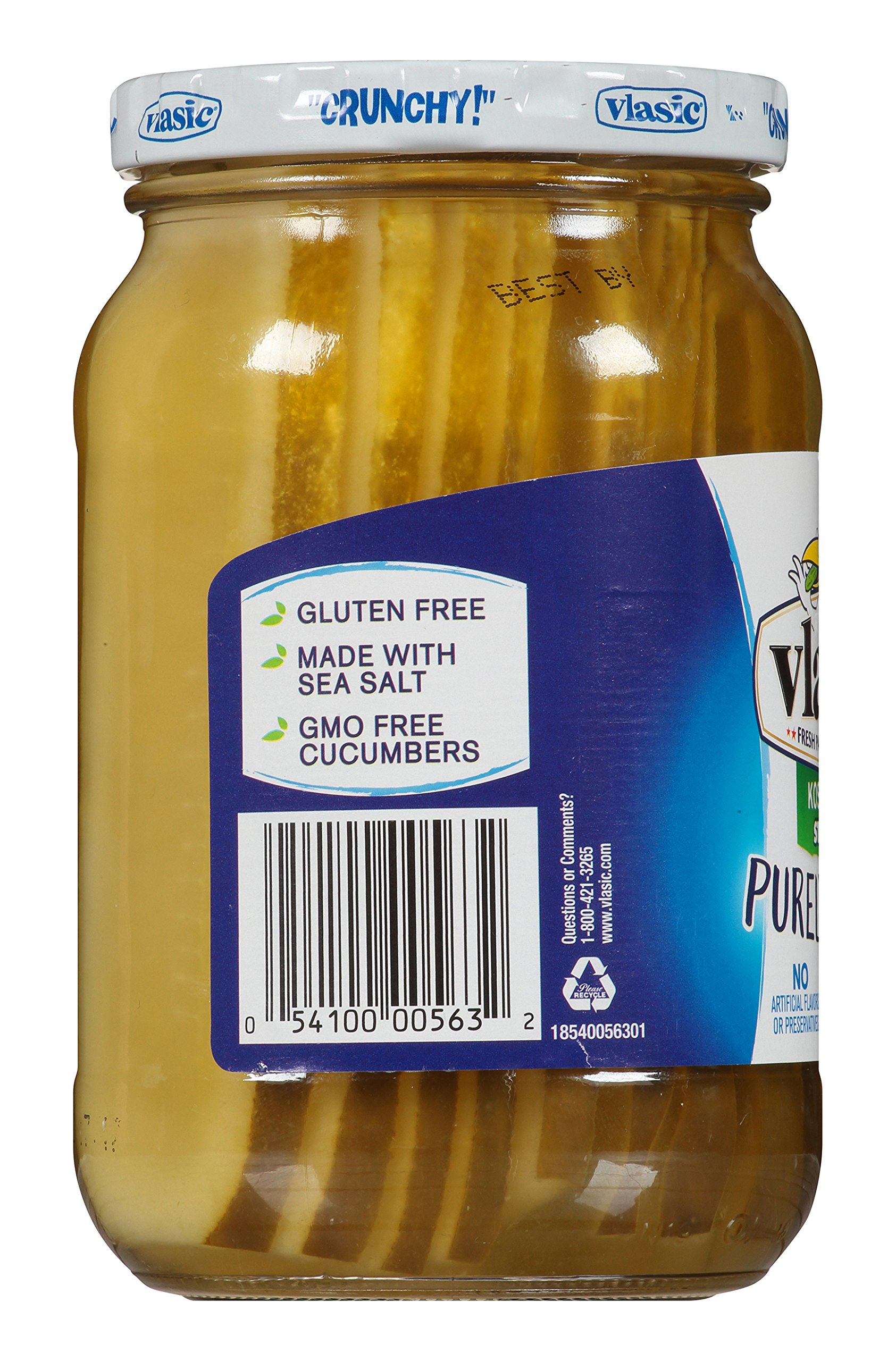 Vlasic Purely Pickles, Stackers with Kosher Dill, 16 Ounce (Pack of 6) by Vlasic (Image #6)
