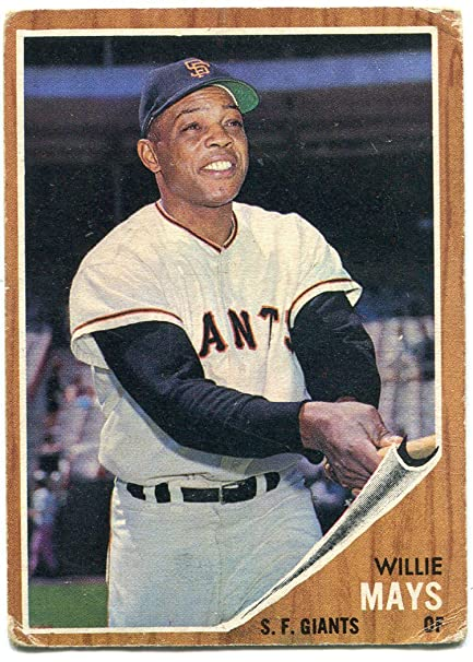 Willie Mays 1962 Topps Baseball Card At Amazons Sports Collectibles