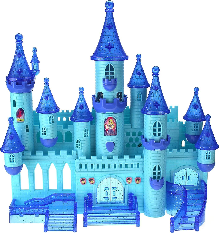 Kids Musical Castle Play Set Pretend Play Pink Castle w//Light /& Music Battery
