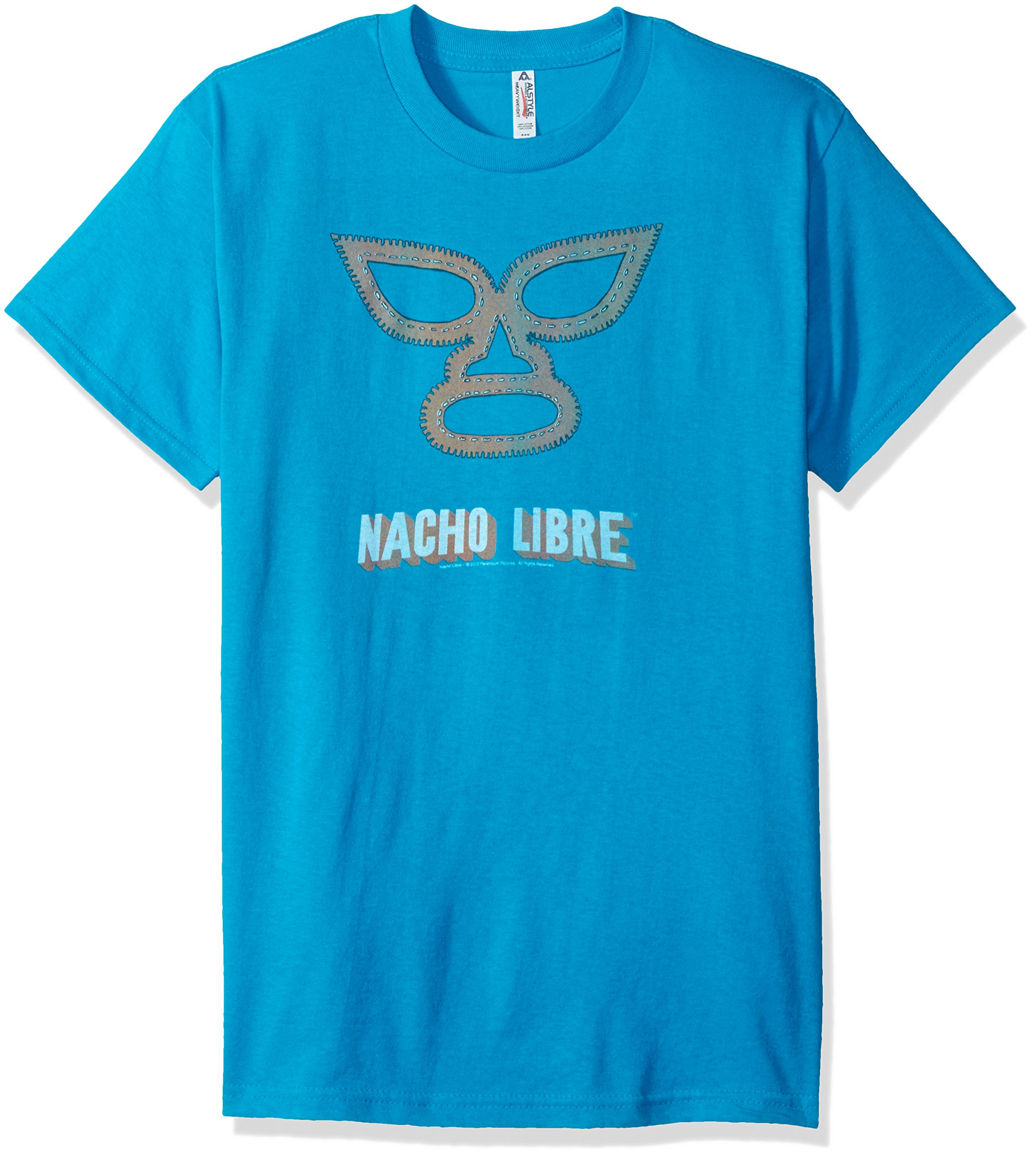 Trevco Men's Nacho Libre Short Sleeve T-Shirt, Turquoise, Large